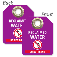 Recycled Water Do Not Drink Mini Tag