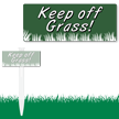Keep Off Grass Bolt On Easystake Sign
