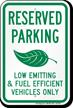 Fuel Efficient Vehicles Parking Sign