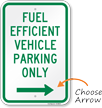 Reserved Fuel Efficient Vehicle Parking, Right Sign