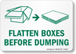 Flatten Box Before Dumping Recycling Label