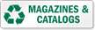 Magazines And Catalogs Recycling Label