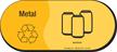 Metal, Recycle Symbol Aluminum Vinyl Recycling Sticker