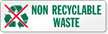 Non Recyclables Waste Label
