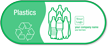 Plastics, Recycle Symbol Custom Vinyl Recycling Sticker
