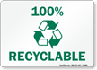 100% Recyclable Sign