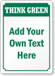 Custom Recycling Sign - Add Own Text