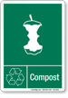 Compost Graphic Recycling Label