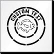 Custom Text Fish Graphic Sign Stencil