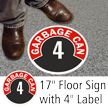 Garbage Can 4 Floor Sign & Label Kit