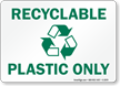 Recyclable Plastic Sign