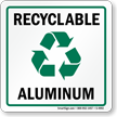 Recyclable Aluminum Label (with graphic)