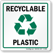 Recycle Plastic Label (with graphic)