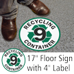 Recycling Container 9 Floor Sign & Label Kit