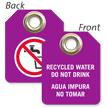 Bilingual Recycled Water Do Not Drink Mini Tag