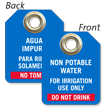 Non Potable Water For Irrigation Use Bilingual Mini Tag