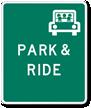 PARK & RIDE -Traffic Sign