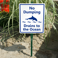 Drains To The Ocean LawnBoss Signs