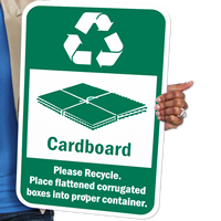 Recycle Cardboard Signs