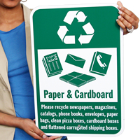 Recycle Paper Cardboard Signs