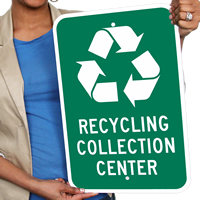 Recycling Collection Centre Signs
