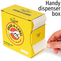 Shipping and Packaging Grab-a-Label Dispenser Box