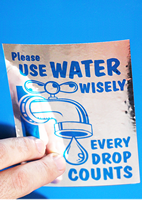 Conserve Water Label