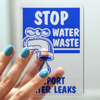 Stop Water Waste Labels