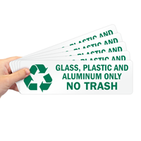 Glass, Plastic And Aluminum Only Label