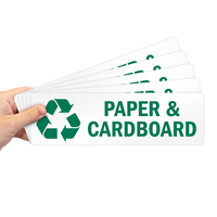 Paper & Cardboard Label with Recycle Graphic