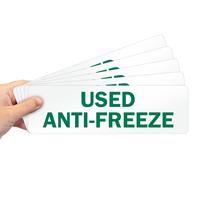 Used Anti-Freeze Label