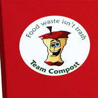 Food Waste Isn't Trash, Mac Apple Compost Stickers