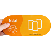 Metal, Recycle Symbol Aluminum Vinyl Recycling Sticker