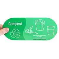 Compost, Food and Food-Related Paper Vinyl Recycling Stickers