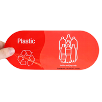 Plastic, Bottles and Jugs Only Vinyl Recycling Stickers