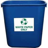 White Paper Only Label