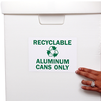 Recyclable Aluminum Cans Signs