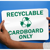 Recyclable Cardboard Signs