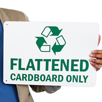 Flattened Cardboard Only Signs