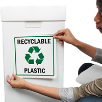 Recycle Graphic Plastic Label