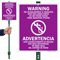 Bilingual Establishment Irrigated With Reclaimed Water Sign