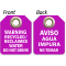 Bilingual Recycled/Reclaimed Water Do Not Drink Double-Sided Tag