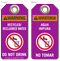 Warning Recycled Reclaimed Water Bilingual Tag